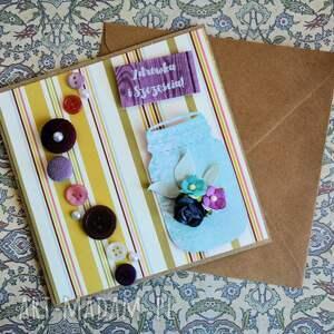 """kartka kartki kolorowe z przesłaniem: """"zdrówka i szczęścia"""""""