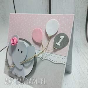 szare kartki zaproszenie kartka/zaproszenie z balonikowym