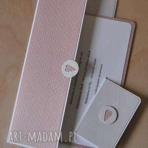 ręczne wykonanie kartki ślubna kopertówka plus bilecik do