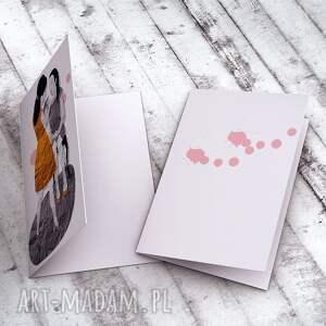 hand made kartki mama i córka - karteczka
