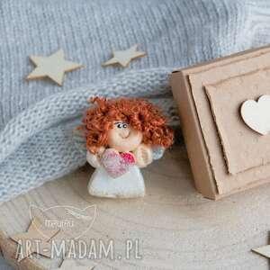 hand made kartki aniołek mini kartka, stróż
