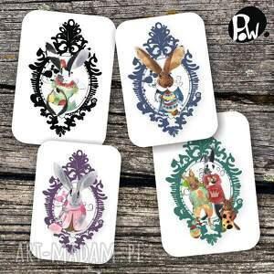 kolorowe kartki naklejki na wielkanocne karteczki