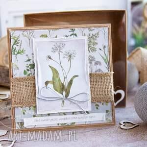 kartki urodziny naturalna kartka z zielnika mrufru