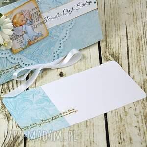 turkusowe kartki święty pamiątka chrztu św.- baby