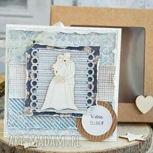 kartki kartka piękna rustykalna ślubna