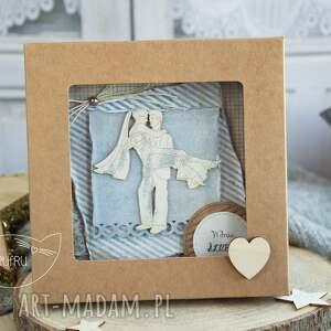 ręcznie wykonane kartki kartka ślubna piękna rustykalna