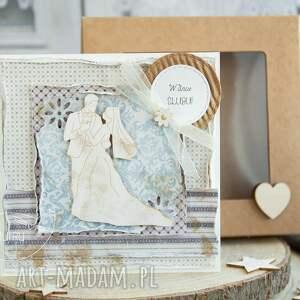 oryginalne kartki na ślub piękna rustykalna kartka ślubna
