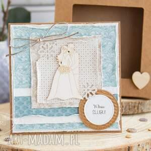 niepowtarzalne kartki ślub piękna rustykalna kartka ślubna