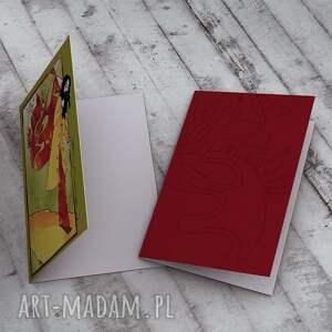zielone kartki życzenia podróż - karteczka