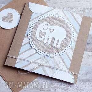kartki słoń słonik:: kartka handmade
