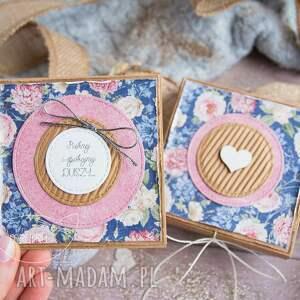 ręcznie robione kartki dla niej urocze pudełeczko z mini kartką
