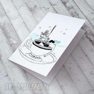 urokliwe kartki w filiżance... karteczka