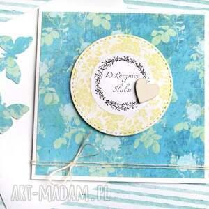 hand made kartki rocznica w rocznicę ślubu: kartka