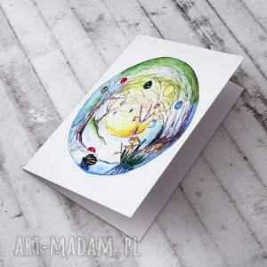 handmade kartki kartka wielkanocna karteczka malowana