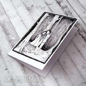 handmade kartki kartka zakochani... karteczka ślubna
