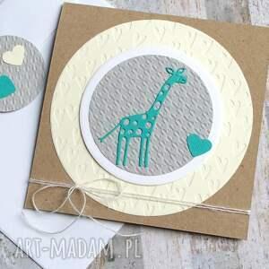 kartki chrzest żyrafa:: kartka na narodziny