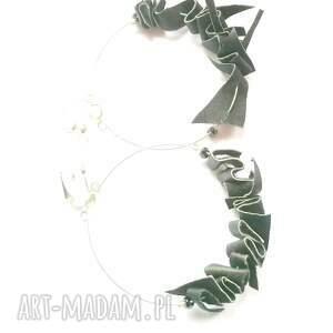 Ruda Klara ręcznie zrobione klipsy duze koła handmade