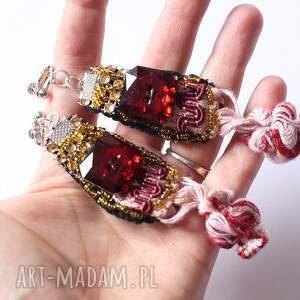 gustowne klipsy etniczne handmade