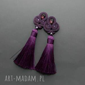 oryginalne klipsy sznurek fioletowe sutasz