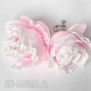 klipsy róże handmade kwiatowe jaśminowe