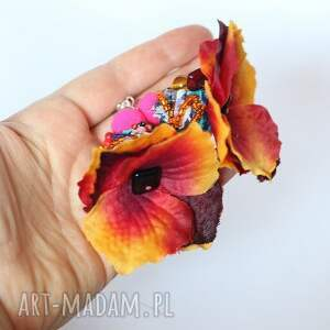 klipsy etno kwiatowe orientalne