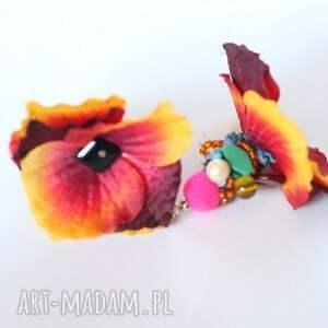 klipsy kwiaty kwiatowe orientalne