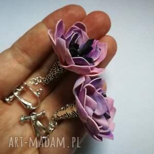 klipsy kwiaty wisnie zakręcone