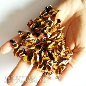 klipsy: lekkie bujne listki jesienne boho - kolorowe