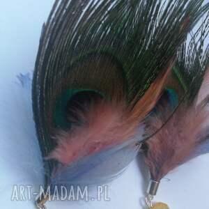 klipsy pióra wiszące długie etno - box