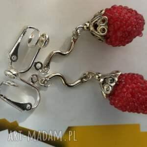 hand made klipsy owoce poziomki lekkie owocowe