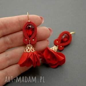 oryginalne klipsy sznurek sutasz z kwiatkiem