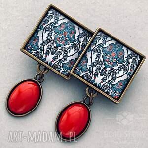 klipsy ornament bardzo efektowne i oryginalne z pięknym