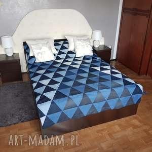 niebieskie koce i narzuty #7 narzuta na łóżko nakrycie denim