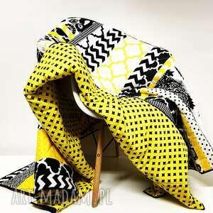 koce i narzuty modna narzuta komplet s&s yellow and