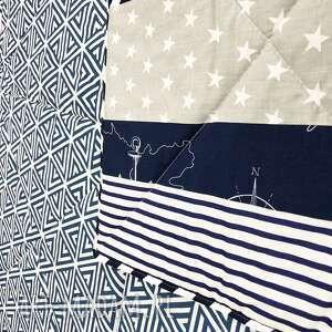 koce i narzuty marynarska komplet s&s narzuta navy blue and