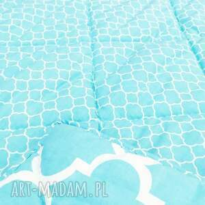 modne koce i narzuty narzuta fresh turquoise 155x205cm