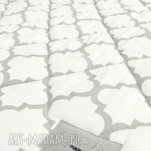 narzuta marokańska koce i narzuty fresh grey white 155x205cm