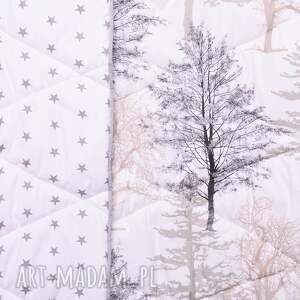 Narzuta Mystical Forest 155x205cm, drzewka od majunto skandynawska
