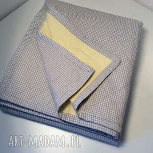 ręcznie wykonane koce i narzuty żółty narzuta na łóżko szaro