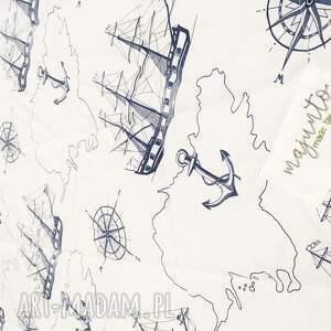 niebieskie koce i narzuty narzuta sea map 155x205cm