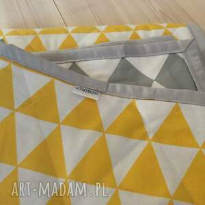 narzuta koce i narzuty białe szaro -żółta 130x230cm