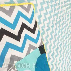 koce i narzuty kołderka narzuta turquoise waves 155x205cm