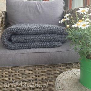 koce i narzuty rękodzieło gruby, ręcznie wykonany wełniany pled w ramie