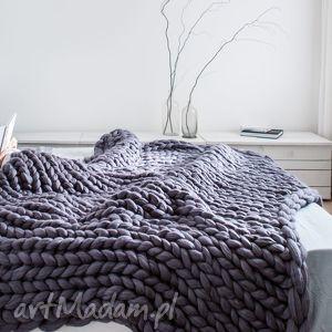 różowe koce i narzuty narzuta pled xxl 120x180 cm wełna merynos