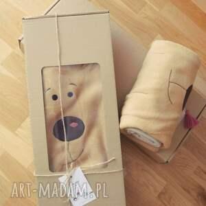 koce i narzuty kocyk polarowy z aplikacją