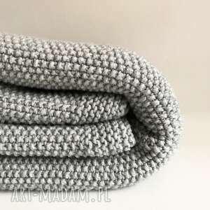 koce i narzuty pled wełniany koc 130x160 handmade