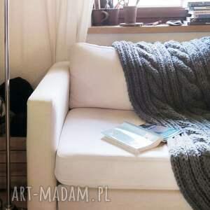 modne koce i narzuty rękodzieło wełniany pled w warkocze 160 x 200