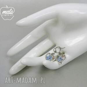 niebieskie kolczyki 0638/kolczyki malutkie serca