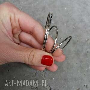 srebrne kolczyki delikatne 3 cm. Koła