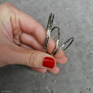 kolczyki codzienne 4,0 cm srebrne koła